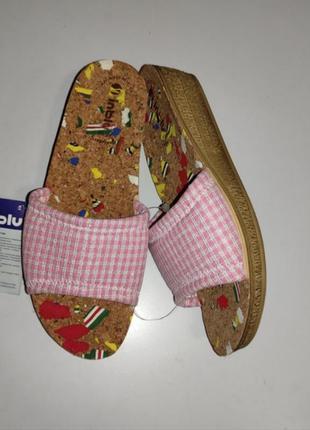 Комфортные домашние женские тапочки с корковой стелькой тм inblu