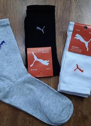 """Чоловічі стрейчеві шкарпетки з високою гумкою """"puma z"""" туреччина 41-45"""