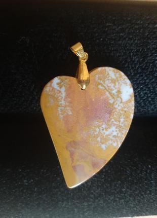 Крупный кулон яшма, натуралтный камень