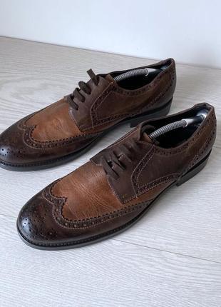 Туфли броги оксфорды johnston&murphy