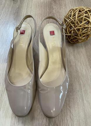 Элегантные туфли босоножки нюдового цвета