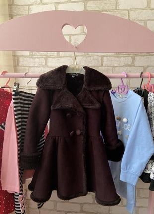 Дубленка 98 104 см куртка пальто
