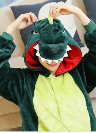 Дино динозавр кигуруми пижама слип человечек tu