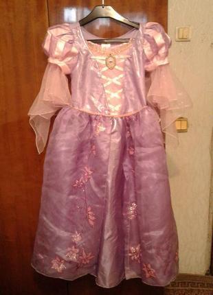 Детский карнавальный костюм рапунцель 9-10лет