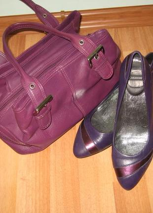 Фиолетовые туфли лодочки