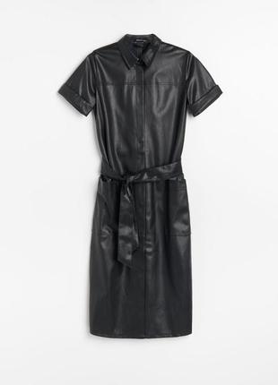 Фирменное кожаное платье от reserved, оригинал с польши