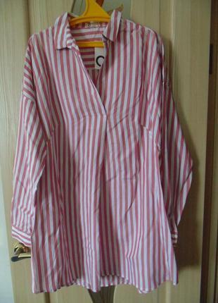 Рубашка, блузка cubus р. 42 евро. вискоза.