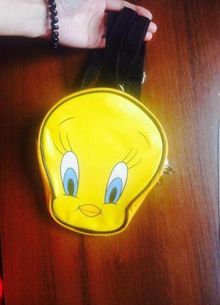Сумочка рюкзак с цыпленком для девочки