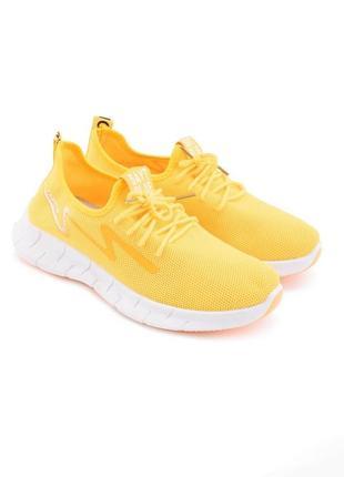 Женские желтые кроссовки,кеды, мокасины,кросівки кеди на шнуровке