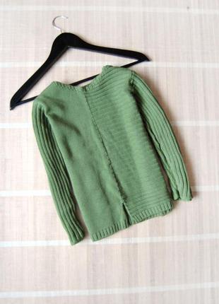 Укороченный теплый свитер m&s оливкового цвета