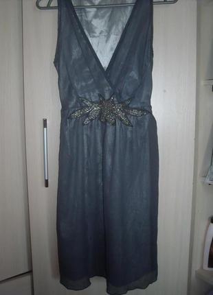 Серое платье saint tropes