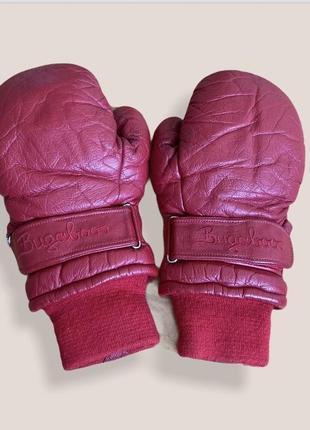 Боксёрские перчатки кожа красные немецкие
