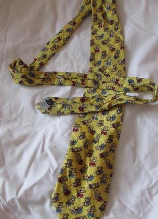 Очень редкий коллекционный винтажный галстук с мишками италия franco martino