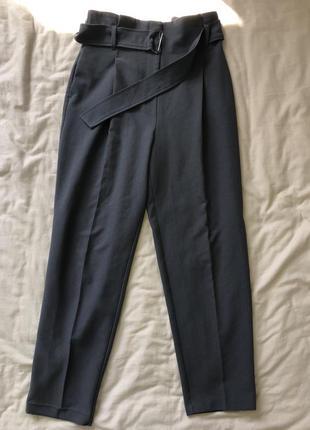 Светло-серые классические брюки