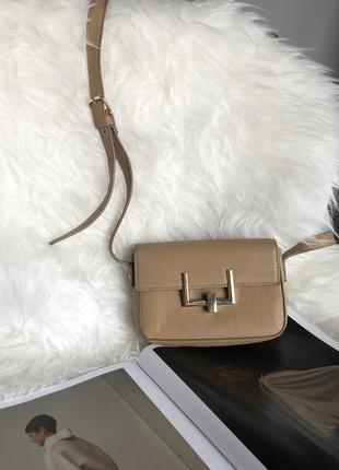 Forever 21 _стильна бежева сумочка через плече