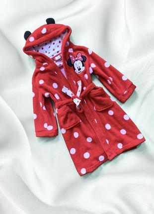 Крутой мультяшкий халат minnie mouse с ушками