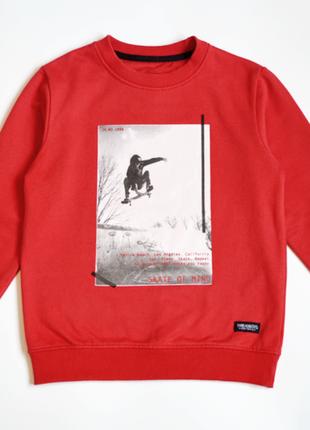 Красный свитшот реглан threadboys на мальчика 7-8 лет
