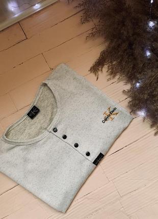 Кофта футболка мужской  calvin klein большой размер кельвин клайн кляйн  l xl