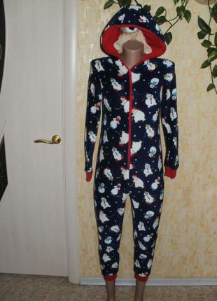 Тёплый милый плюшевый человечек кигуруми слип человечек халат костюм пижама комбинезон