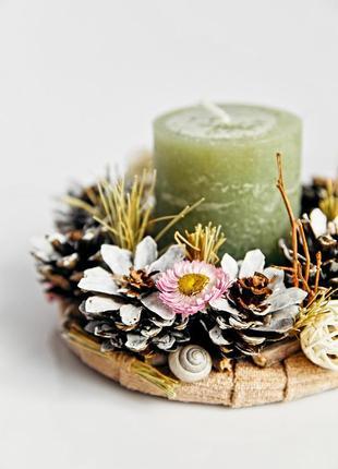 Подсвечник декор под свечу
