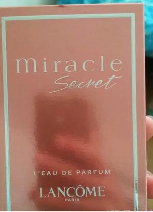 Женская парфюмированная вода lancome miracle secret leau de parfum