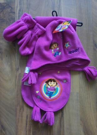 Шапки,шарф,рукавиця тепло осінь-зимна 2-4років