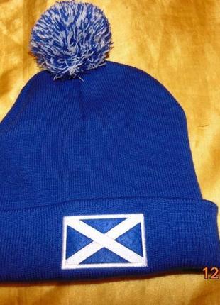 Спортивная фирменная зимняя шапка шапочка зб шотландии sedarwood state.м-л-хл .