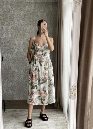 Новое льняное платье mango размер м