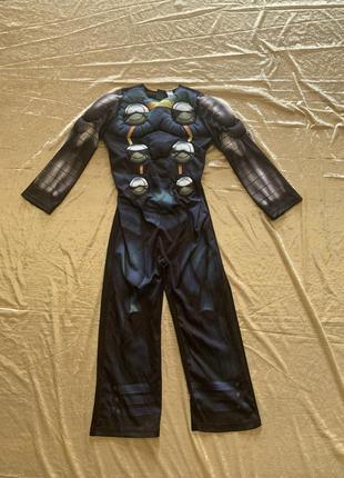Яркий карнавальный костюм тора марвел на 5-6 лет