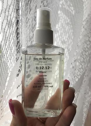 Парфумована вода eau de parfum blanc lacoste