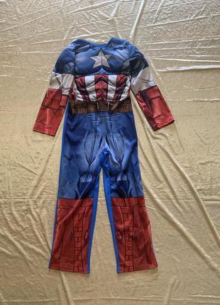 Яркий карнавальный костюм капитан америка супергероя marvel's avengers на 7-8 и 9-10 лет
