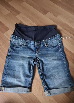 Новые! шорты джинс стрейч для беременных h&m