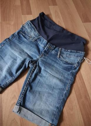 Новые !!!! шорты джинс стрейч для беременных h&m