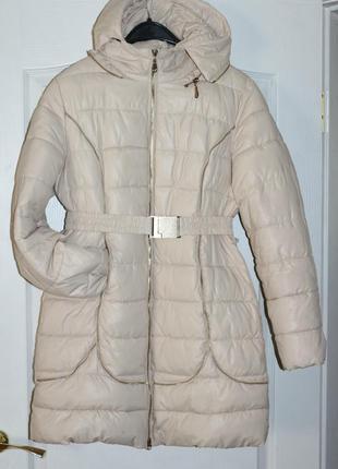Зимняя куртка, пуховик, пальто, молочного цвета, вещи в наличии💚+скидки, заходите💚