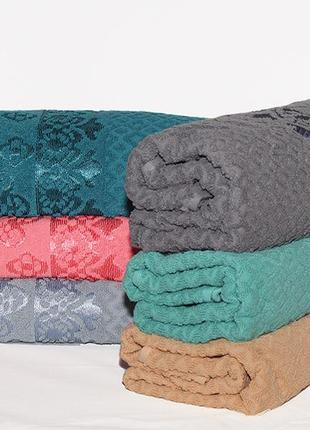 Комплект махрових рушників, набор полотенец