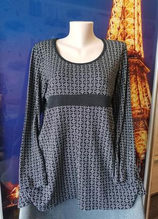 Удобная универсальная блуза с геометрическим рисунком , котоновая l/xl/хxl, материал котон
