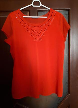 Якрая блуза с коротким рукавом orsay