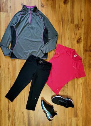 Комплект/костюм для занятия спортом /бегом /фитнесом кофта бриджи футболка