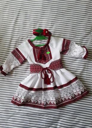 Плаття вишиванка, вишите плаття + обруч 2р