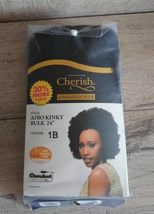 "Парик пряди канекалоны афрокосички cherish bulk - afro kinky 24"" kanekalon japan"