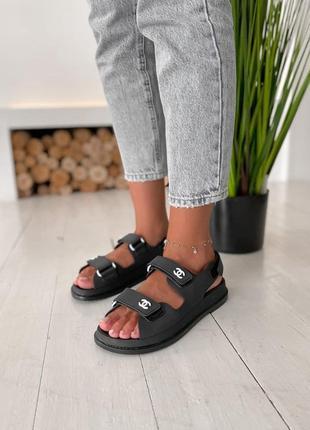 Летние женские сандалии черного цвета (36-40)