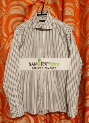 Рубашка в полоску нанотекс nanotex vinci