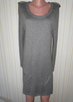 #трикотажное платье # bhs#длинная туника #большой размер 16 #