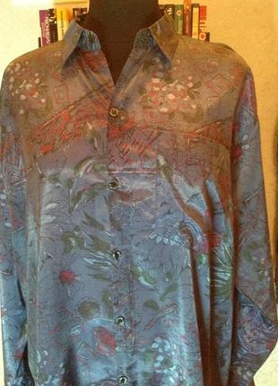 Импозантная, шелковая  рубашка немецкого бренда datchler, р. 52-54