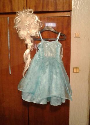 Детский карнавальный костюм принцесса эльза на 4 года