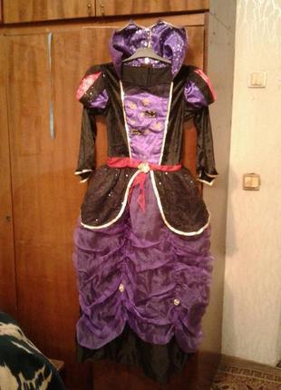 Детский карнавальный костюм вампирша 11-12 лет