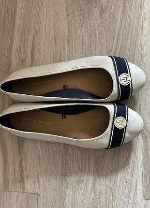 Туфли балетки томми хилфигер tommy hilfiger женские белые