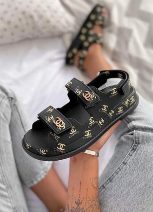 Стильные женские летние сандалии черного цвета (36-40)