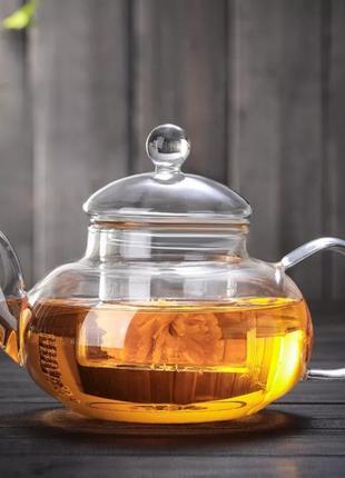 Заварювальний чайник склянний, 1200 мл.