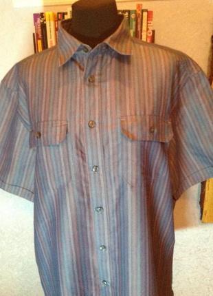 Милейшая рубашка в полоску бренда marks & spencer, р. 56-58